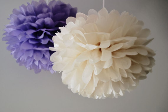 12  Large Tissue PomPoms - pick your colors