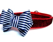 Nautical Dog Bow Add-On to Dog Collar