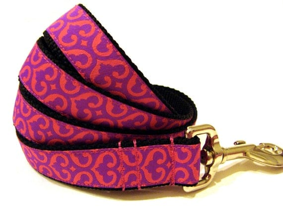 Colorful Dog Leash Pink and Purple Dog Leash 1""