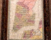 City of New York Map Print of an 1848 Map on Parchment Paper