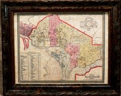 City of Washington DC Map Print of an 1850 Map on Parchment Paper