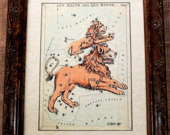 Vintage Celestial Card Art Print on Parchment Paper
