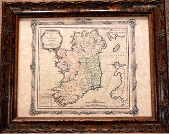 Ireland Map Print of a 1766 Map on Parchment Paper