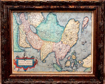Asia Map Print of a 1574 Map on Parchment Paper