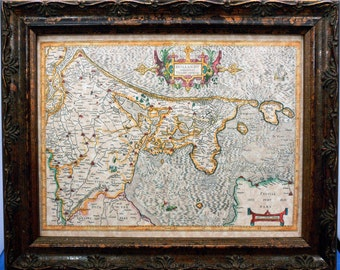 Holland Map Print of a 1606 Map on Parchment Paper