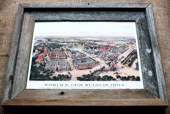 1904 St. Louis World's Fair Aerial View Map Print on Watercolor Paper