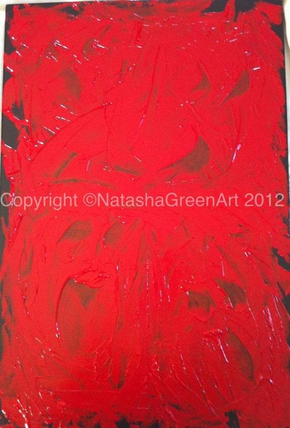 Original Acrylic painting on canvas Title Anger 2 by NatashaGreenArt.