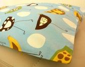 Baby Blue Birds Cotton Fabric SINGLE Pillowcase