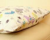 Whimsy Birds Print Cotton Fabric SINGLE Pillowcase