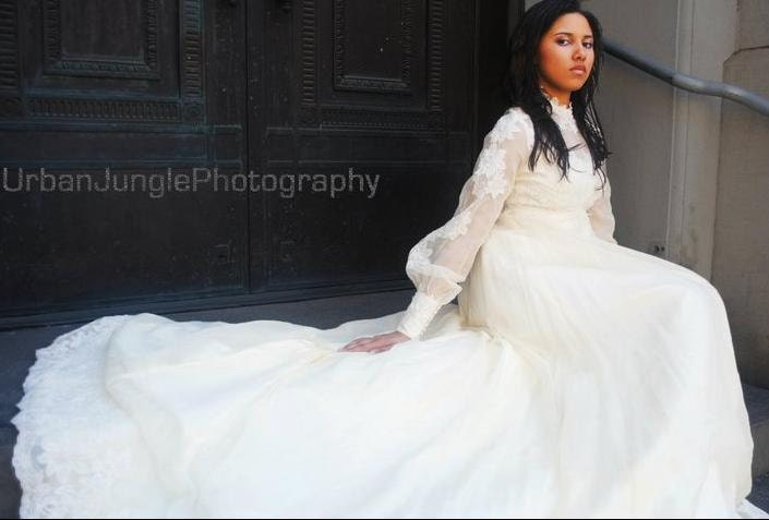 Vintage Wedding Dress: Late 60's Early 70's By