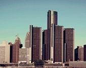 Detroit Photography - Morning Delight Detroit Skyline - Detroit Photo - 6x12