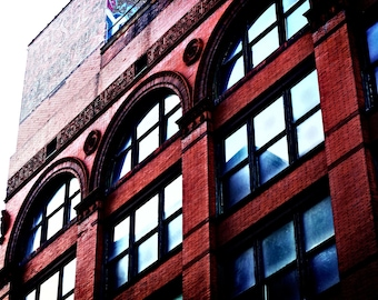 Urban Photography - Red Brick Building - Detroit - Fine Art - 8x12