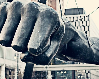 Detroit Photography - Welcome to Detroit, Color - Joe Louis Fist