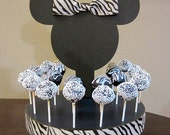 Zebra Mouse Inspired Cake Pop or Lollipop Stand