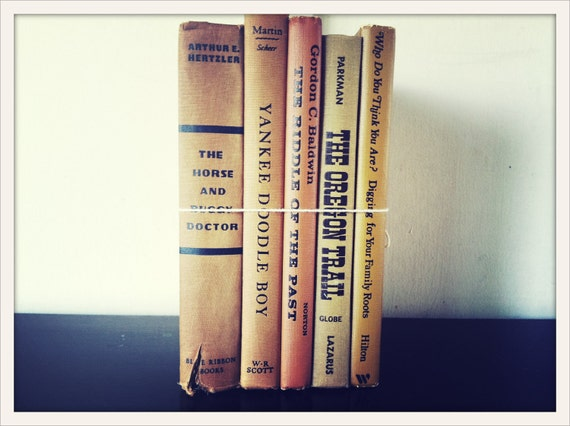 vintage book collection GOLDENROD edition