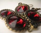 Dark Red Gothic Earrings