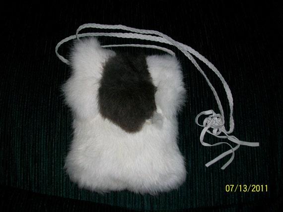 Handmade Two Tone Rabbit Pelt - Native American SALE