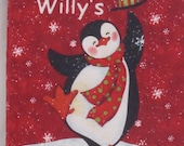 "Christmas Penguin "" Silly Willy's Favorite Day"" Soft Cloth Book"