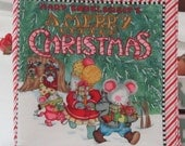 "Christmas Classic "" A Merry Litttle Chrsitmas"" Soft Cloth Book by Mary Engelbreit's"