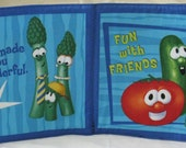 "Soft Cloth Book "" Fun with Friends"" Tomato, Carrots, Peas and more"