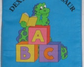 "Soft Cloth Book ""Dexter The Dinosaur"" Learning all about Letters in bright colors and pictures"