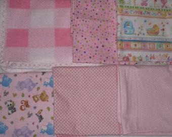 Bundle Of Joy Baby Girl or Baby Boy designer cotton flannel receiving Blankets
