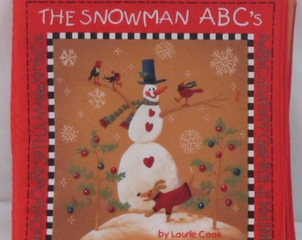 "Christmas Classic Story "" The Snowman ABC"" Soft Cloth Book"