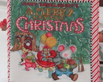 "Christmas Classic "" A Merry Litttle Chrsitmas"" Soft Cloth Book by Mary Engelbreit's"