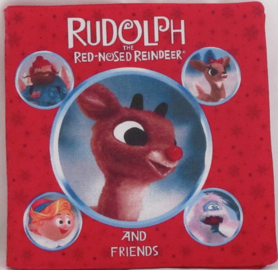 "Christmas Classic "" Rudolph The Red Nose Reindeer And Friends"" Soft Cloth Book"
