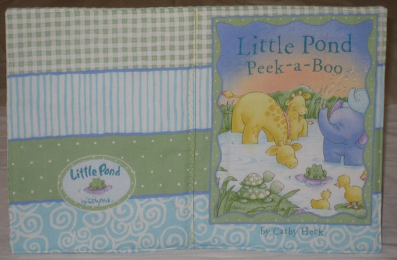 """RESERVED for M Romano Soft Cloth Book """"Little Pond Peek-a-Boo"""" Hippo, Butterfly, Elephant, Ducks, Dragonfly and Giraffe"""