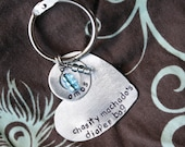 Baby Diaper Bag Tag - Custom and Personalized - Up cycled Metal Heart