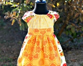 """New for Spring 2012 """"Sunshiney Day"""" Collection Apron Dress in 6-12mo,12-18mo, 2T, 3T, 4T, 5T"""