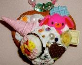Decoden deco den Kawaii Cute Fruit Tart Harajuku Lolita Pendant Necklace