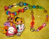 RESERVEDAshley128911 Lalaloopsy Tales Alice and Mad Hatter Alice in Loopsyland harajuku kawaii decoden deco den rainbow beaded necklace