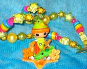 RESERVED RESERVED Lalaloopsy Tales Pete R Canfly Peter Pan kawaii deco den decoden button harajuku beaded necklace