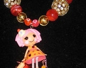 RESERVED RESERVED Lalaloopsy Cherry Crisp Crust  charm harajuku kawaii decoden deco den beaded necklace
