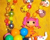 RESERVED for Ashley128911 Lalaloopsy Big Top Peanut heart circus harajuku kawaii decoden deco den beaded necklace