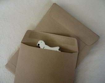 A5 BA Brown Kraft Paper Open End Envelopes -- Set of 20  (size 6 3/8 x 9 inches or 16 x 23 cm.)