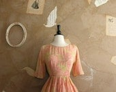 Reserved Vintage 1950s In the Pastel Dress