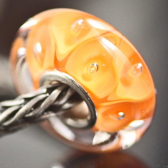 GlassBonBon Sun  Summer and Sand SRA Lampwork Bead fits troll BHB fully cored