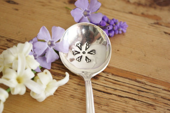 Daisy Spoon (TM) - Hand Stamped Spoon Set - Vintage Gift - Original Design by Forsuchatimedesigns