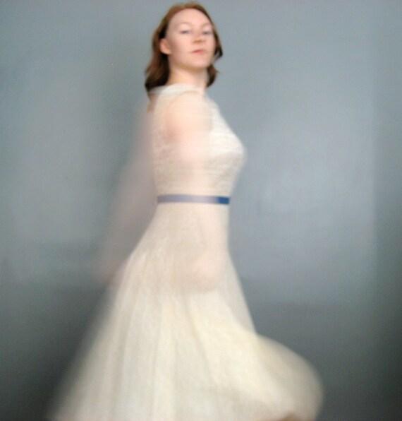 Betty - Upcycled 1950's Vintage Lace Alternative Wedding Reception Dress