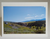 Photo Note Card Scenic Photograph of Montana Blank Inside 4 X 6 Free Shipping Handmade in Montana USA
