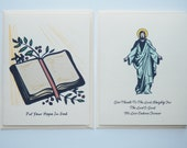 Christian Note Cards 2 Sets of 6 Each Free Shipping Bible Jesus