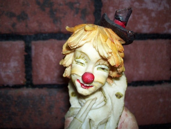 Vintage Porcelain Clown Collectible Free Shipping