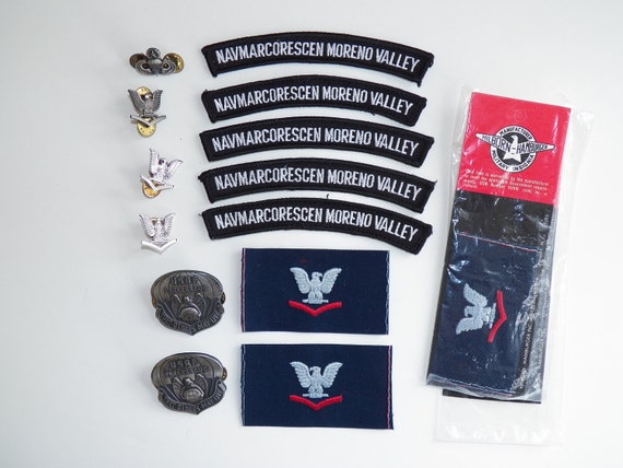 Collection of Vintage Military Pins Badges and Patches Free Shipping
