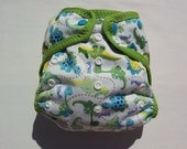 """One Size Pocket Diaper with Babyville Boutique Dinosaurs """"Ready To Ship"""""""