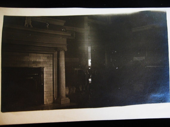 2 Ghostly Home Interior Shots....Vintage Photos From the 1900's