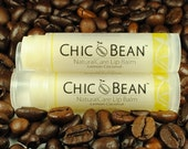 CHIC Bean NaturalCare Lip Balm ( Lemon Coconut ) with Certified Organic Coconut Oil / USDA