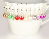 Glass Pearl Earrings - CHIC Bean Glass Pearl Earrings ( - Your Choice of Colour - )
